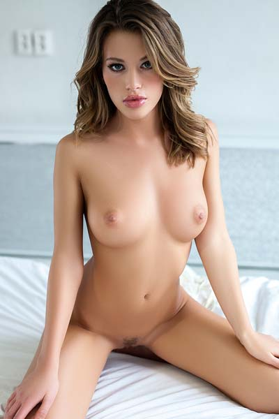 Model Katia Martin in Morning Strip