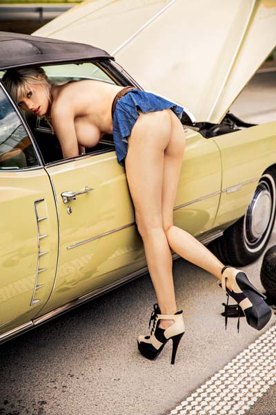 Model Olga Niedzielska in Playboy Poland