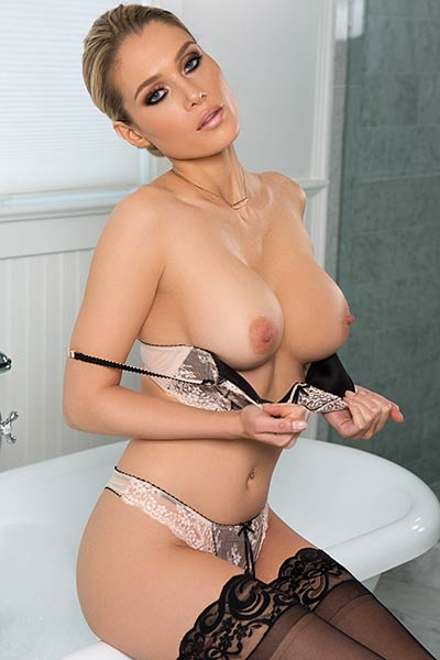 Model Anna Opsal in Sensual Shower