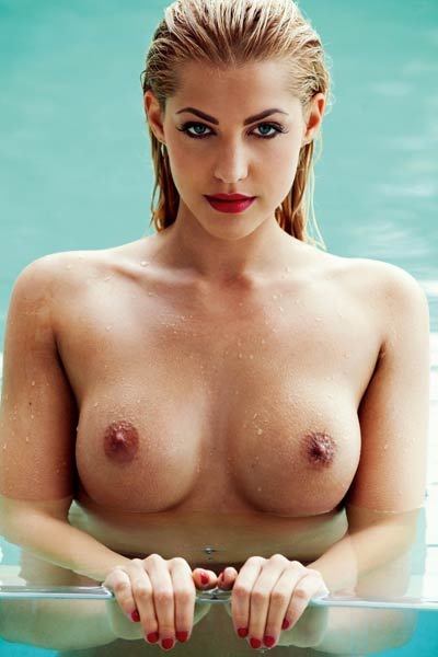 Model Sarah Nowak in Playboy Germany