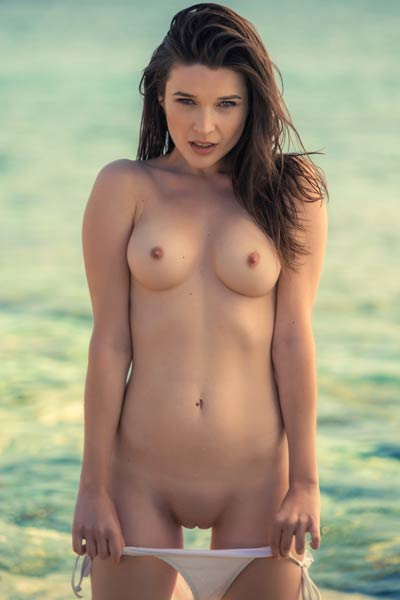 Model Serena Wood in Shimmering Sensation
