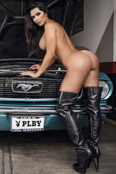 Model Leidy Yalena in Playboy Mexico