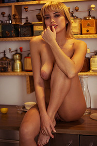 Model Margo Dumas in Daily Grind