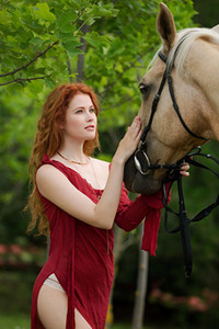 Model Heidi Romanova in Take the Reins