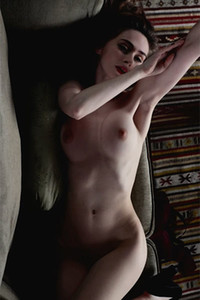 Model Yana West in Shadow Seduction