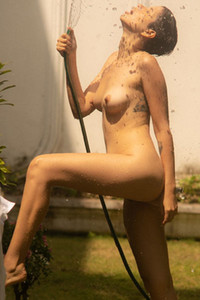 Model Alejandra La Torre in Keeping Cool