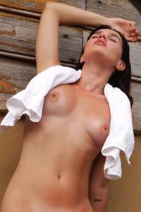 Model Laura Devushcat in Serving Looks
